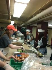 Photo of volunteers on serving line